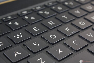 Keyboard keys balance feedback and travel better than on most other Ultrabooks