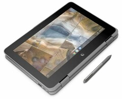 The HP Chromebook 11 x360 G2 EE convertible supports Wacom EMR digital pens. (Source: HP)