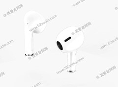 The AirPods 3 look mightily like the AirPods Pro. (Image source: 52audio)