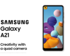 The Samsung Galaxy A21. (Source: Samsung)
