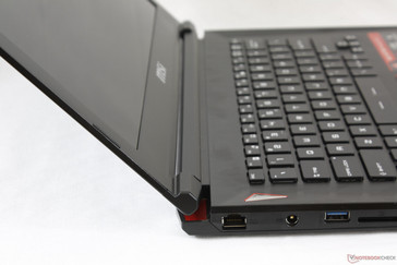 Lid opened to maximum ~140 degree angle