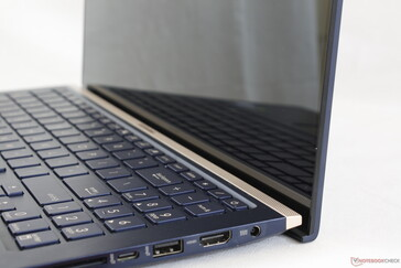 "The ""chin"" bezel appears narrower than most other laptops because Asus hides most of it behind the base"
