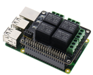 PiRelay, a Raspberry Pi relay shield with a mobile app that costs just US$17.06. (Image source: SB-Components)