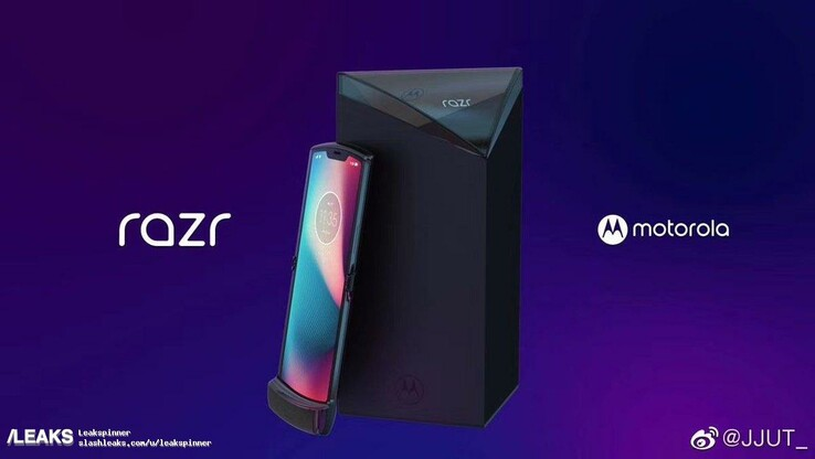 Motorola Razr and box. (Image source: SlashLeaks)