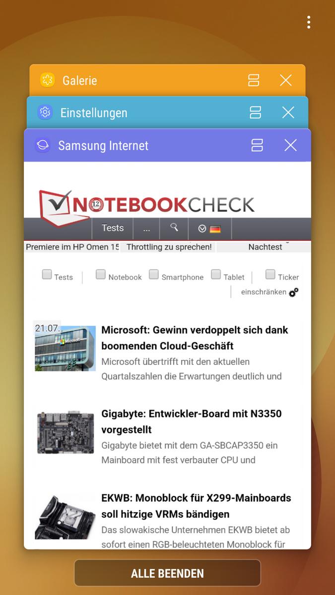 Samsung Galaxy J7 (2017) Duos Smartphone Review - NotebookCheck.net ...