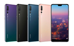 Huawei P20 Pro lineup with notched display
