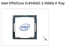 Retailer reference to Intel Core i3-8145UC. (Source: Midas Computer)