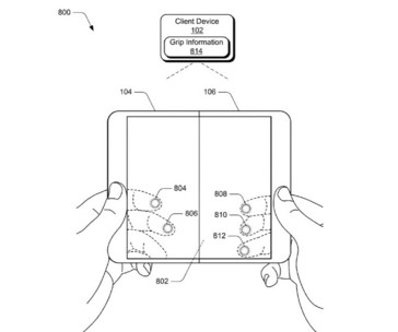 (1) A MS patent application for device awareness of how is being held. (Source: USPO)
