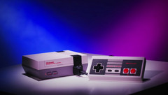 This replica of the original Nintendo Entertainment System comes preloaded with 30 classic games. (Source: Nintendo)