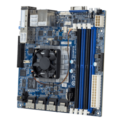 The MA10-ST0 is a Mini-ITX form-factor server motherboard. (Source: Gigabyte)