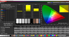 CalMAN: ColorChecker after calibration (sRGB target color space)