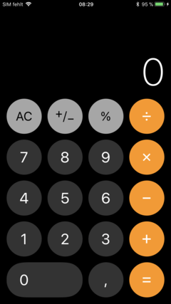 Calculator now with round buttons