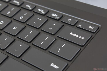 Unlike on most other Ultrabooks, the Power button sits in between the PgDn and Del keys