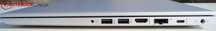Right-hand side: 3.5 mm jack, 2 x USB 3.1 Gen 1 Type-A, HDMI, LAN, USB Gen 1 Type-C, power connector