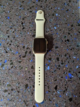 Apple Watch Series 5: 44 mm, stainless steel chassis, sports strap