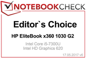 Editor's Choice Award in March 2017: x360 1030 G2