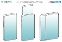 OPPO's apparent new take on smartphone pop-up and sliding mechanisms. (Source: LetsGoDigital)