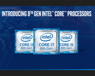 Intel Core i5-8250U, i5-8350U, i7-8550U, and i7-8650U Kaby Lake-R launches today (Source: Intel)