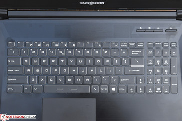 The unbranded keyboard, identical to MSI's SteelSeries models