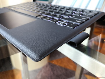 "Envy x2 ARM. Leather-like ""Pebble"" base texture is easier to clean compared to the Surface Pro Alcantara"