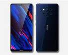 A new render shows a supposedly Nokia smartphone with a fascinating multi-camera layout. (Source: antutu.com)