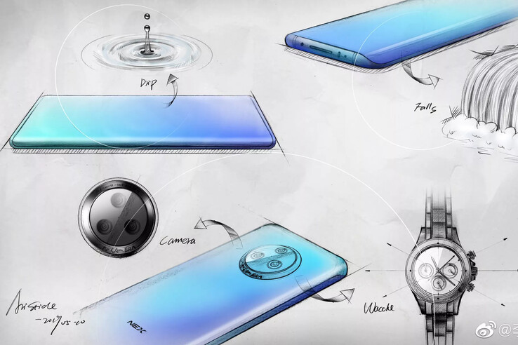 Official sketches of the Vivo NEX 3. (Source: Vivo)