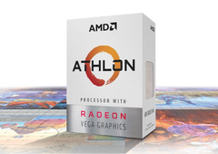 The Athlon 200GE and 220GE are dual-core chips. (Image source: AMD)