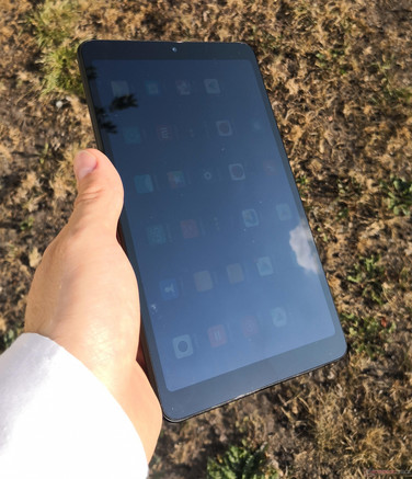 Using the Xiaomi Mi Pad 4 (LTE) outside in the sun