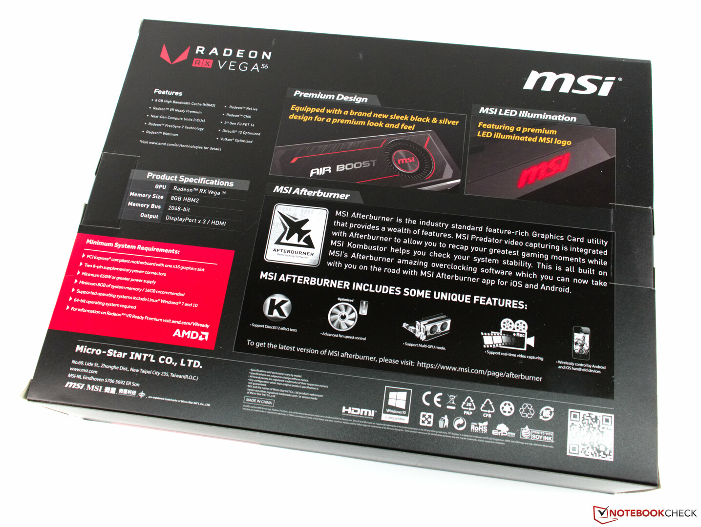 MSI AMD Radeon RX Vega 56 Air Boost OC Edition Review