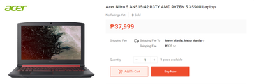 Acer Nitro 5 AN515-42-R3TY. (Image source: Shopee)