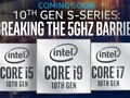 Performance figures for a number of Comet Lake S parts were leaked (Image source: Intel)