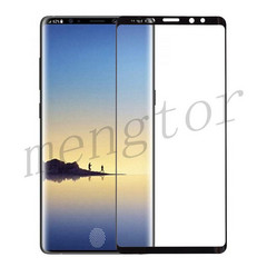Galaxy Note 9 tempered glass screen protector. In display fingerprint sensor shown might not be accurate. (Source: Mengtor)