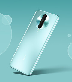 "The Redmi K30 Extreme Edition in its fetching ""Mint Ice Blue"" finish. (Image source: Xiaomi)"