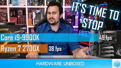 "Walton's frustration with Intel is even visible in the thumbnail of his video titled ""Intel's New Low."" (Source: Hardware Unboxed)"