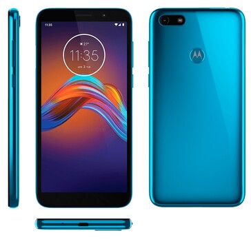 The Moto E6 Play has a new Turquoise Blue colorway, at least. (Source: XDA)