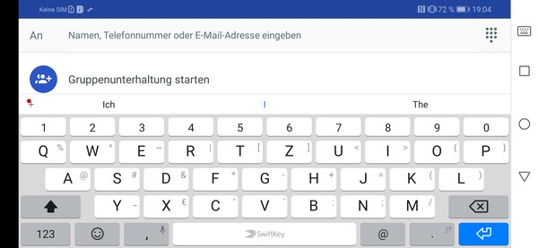 Huawei P Smart 2019 keyboard