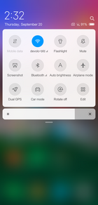 Xiaomi Mi 8 Explorer Edition - quick settings