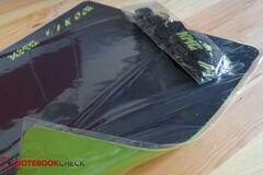 The mousepad has a rubberised and non-slip back