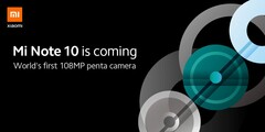 The Mi Note 10 is coming. (Source: Xiaomi)