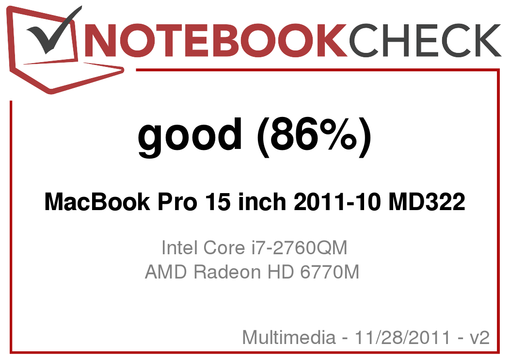 Review Apple MacBook Pro 15 Late 2011 (2 4 GHz, 6770M, glare
