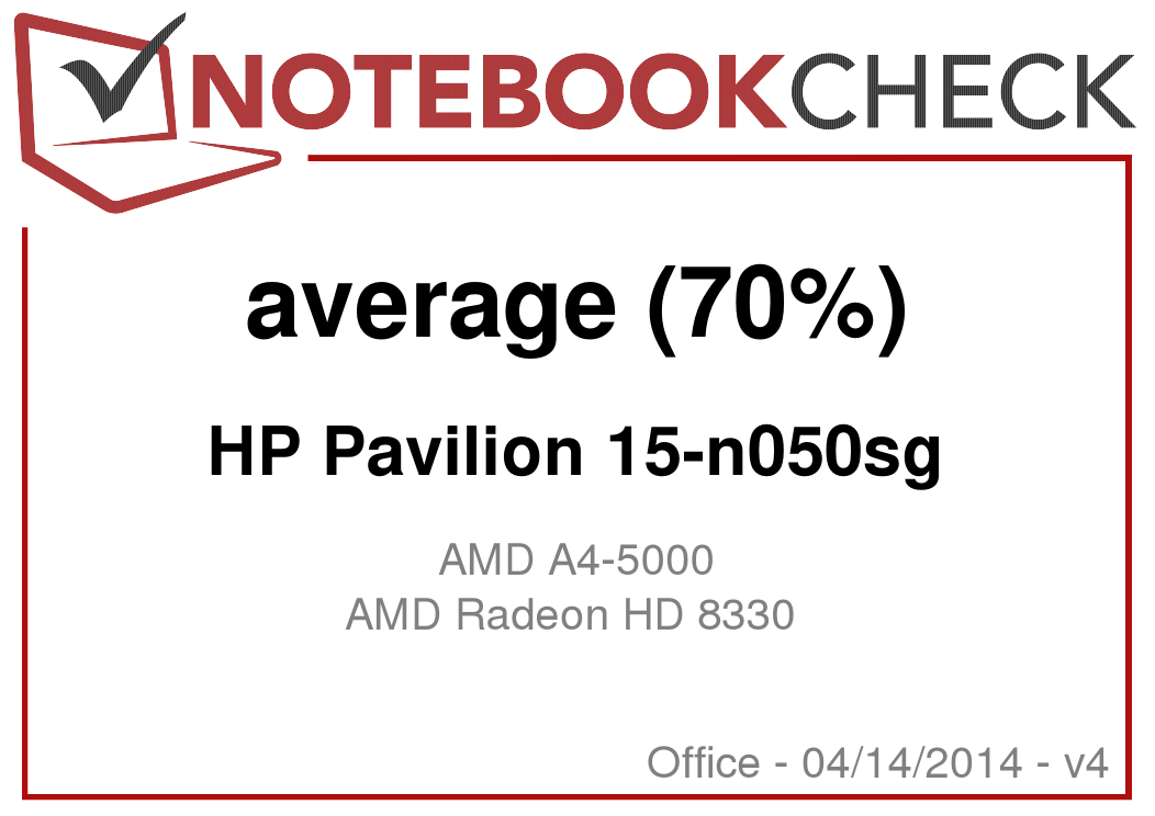 Review HP Pavilion 15-n050sg Notebook - NotebookCheck net