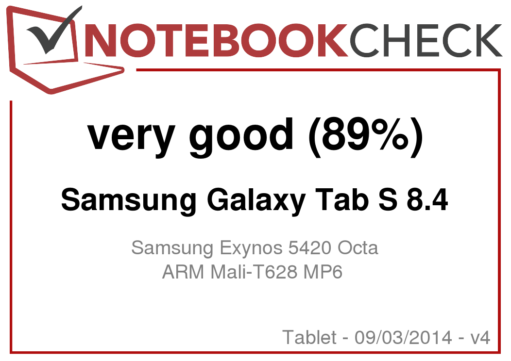 Samsung Galaxy Tab S 84 Tablet Review