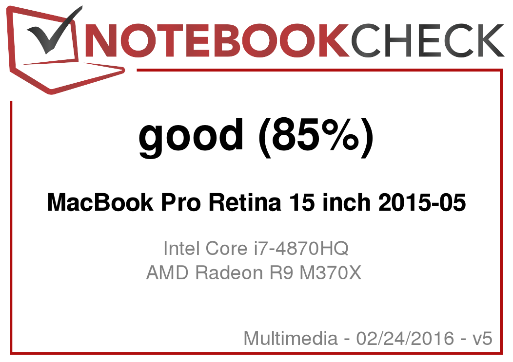 Apple MacBook Pro Retina 15 (Mid 2015) Review - NotebookCheck net