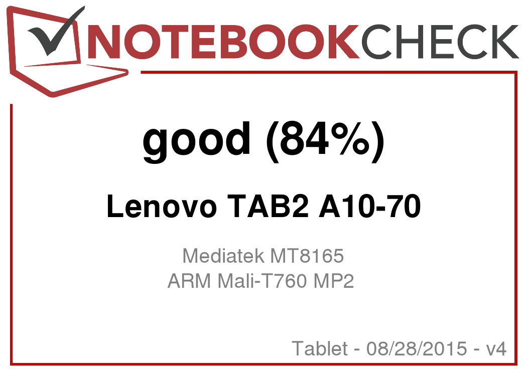 Lenovo Tab 2 A10 70 Tablet Review Notebookcheck Net Reviews