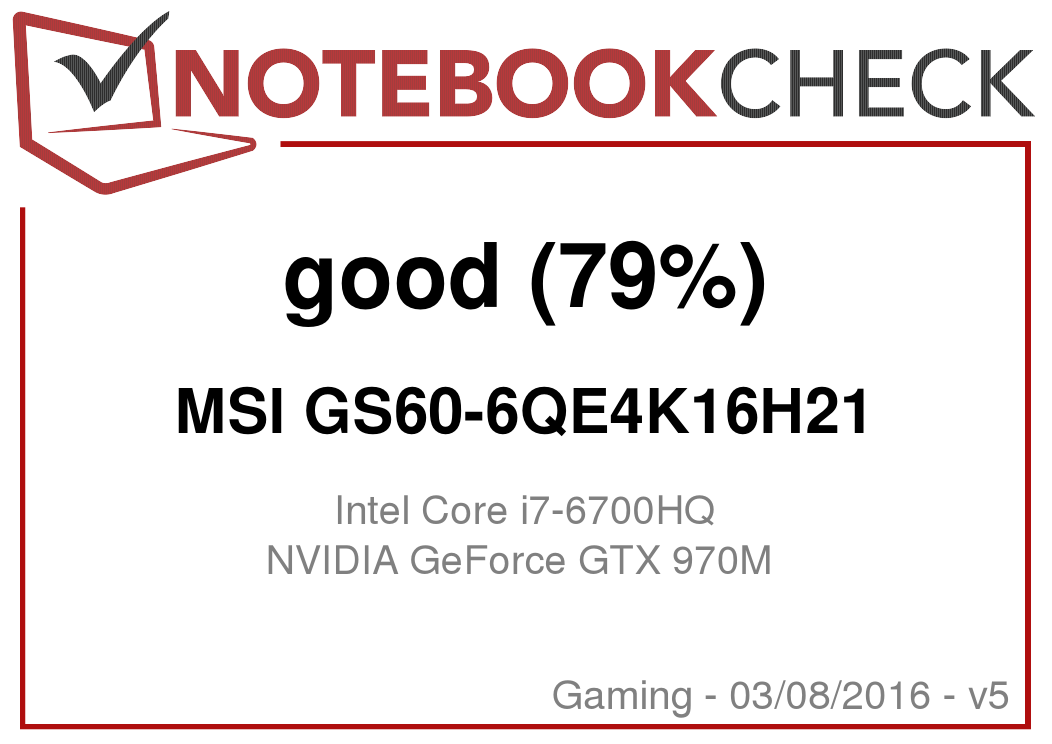 MSI GS60 6QE Ghost Pro Notebook Review - NotebookCheck net