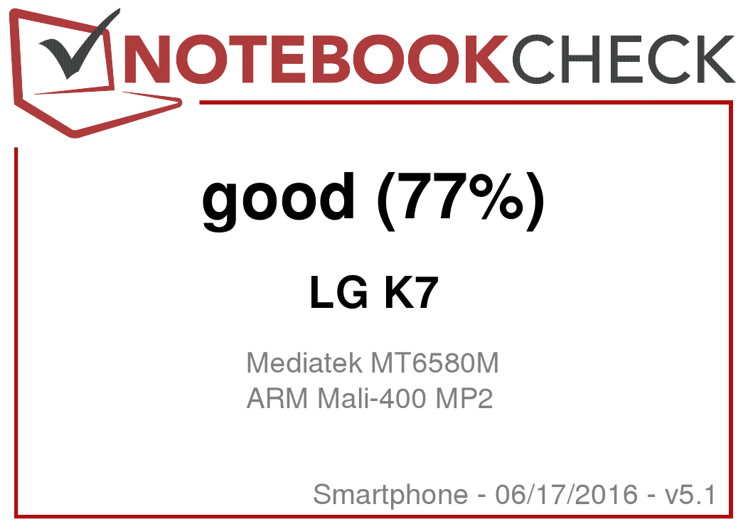 LG K7 Smartphone Review - NotebookCheck net Reviews