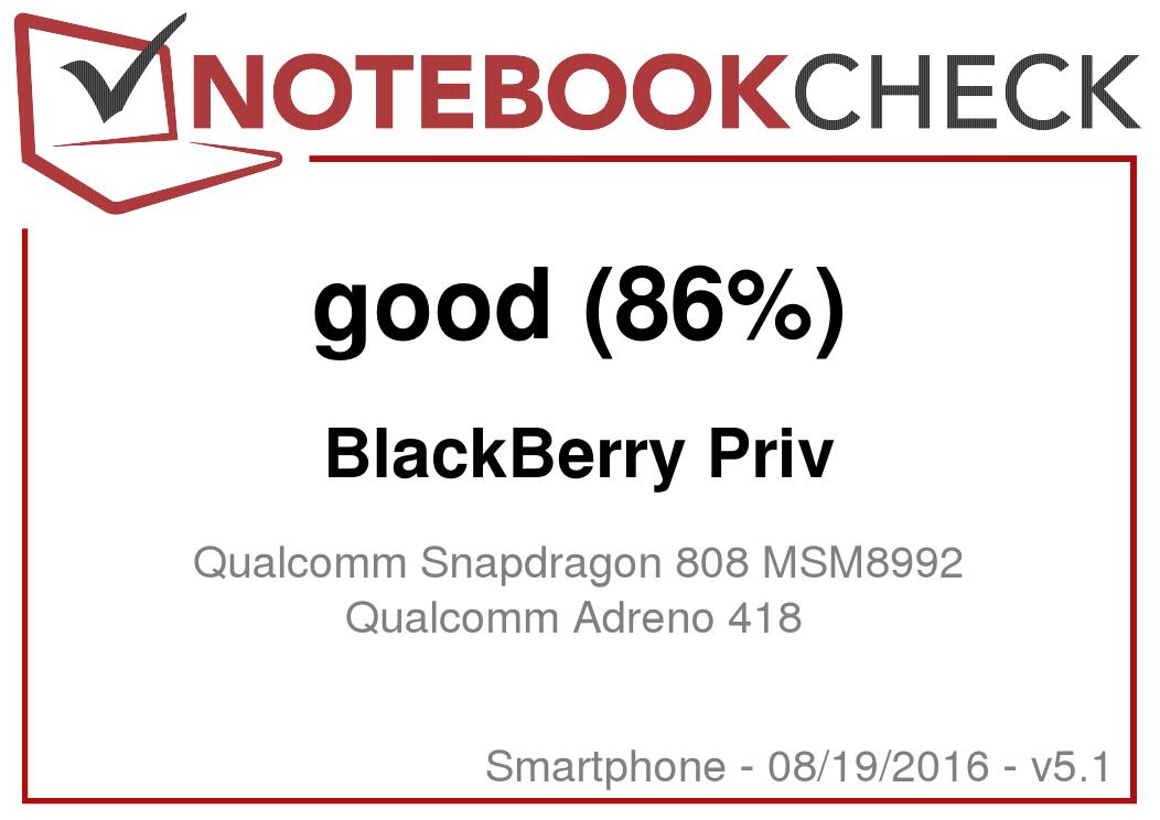 BlackBerry Priv Smartphone Review - NotebookCheck net Reviews