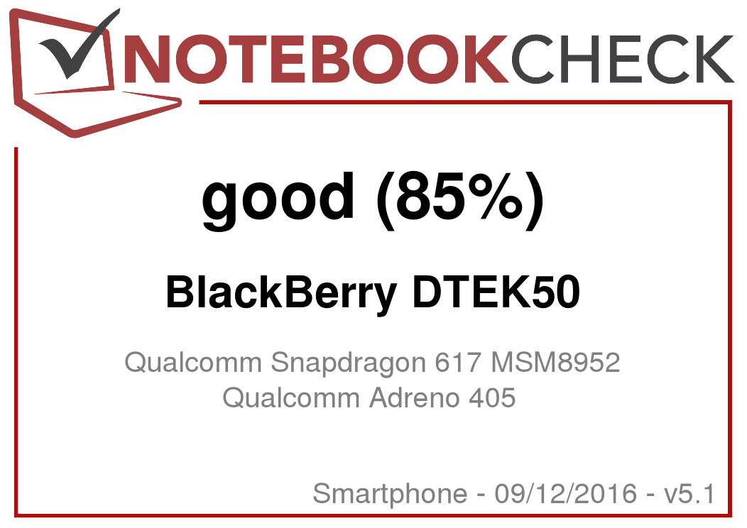 BlackBerry DTEK50 Smartphone Review - NotebookCheck net Reviews