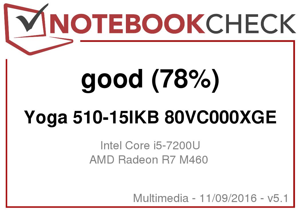 Lenovo Yoga 510-15IKB Notebook Review - NotebookCheck net