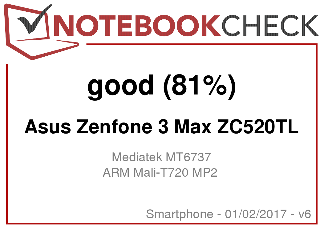 Asus ZenFone 3 Max ZC520TL Smartphone Review - NotebookCheck net Reviews